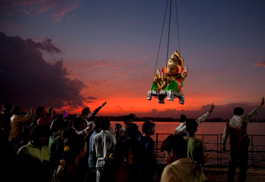 Ganesh Visarjan Sunset