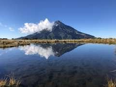 Mount Taranaki from Pouakai Tarn