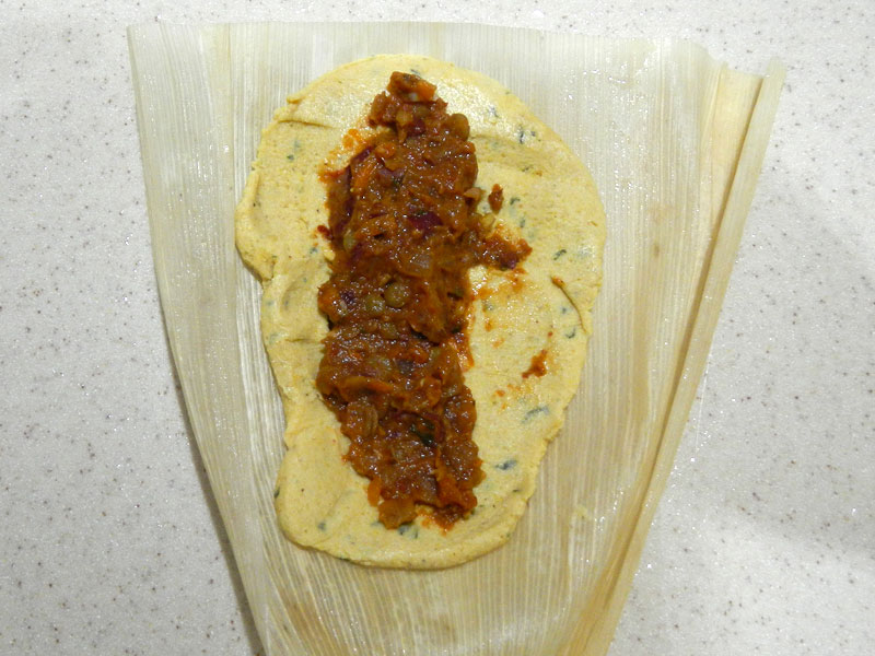 Stuffing the Tamale with Red Chile