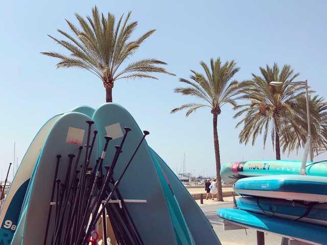Stand Up Paddle (SUP) an der Playa de Palma