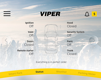 Directed smart start Viper screen