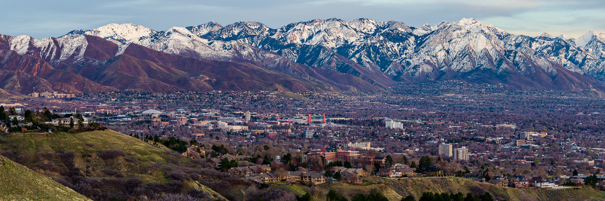 Salt Lake City and the Wasatch