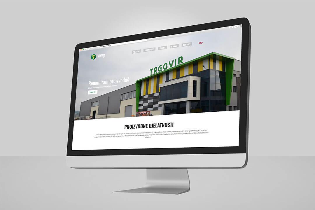 Project Trgovir, Website Design, Programming