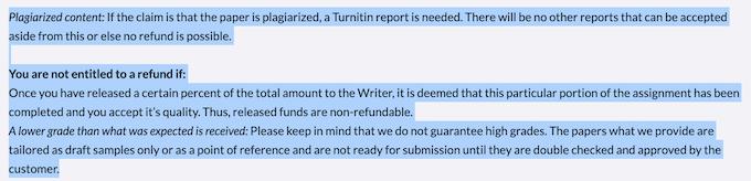 refund policy on essayservice.com