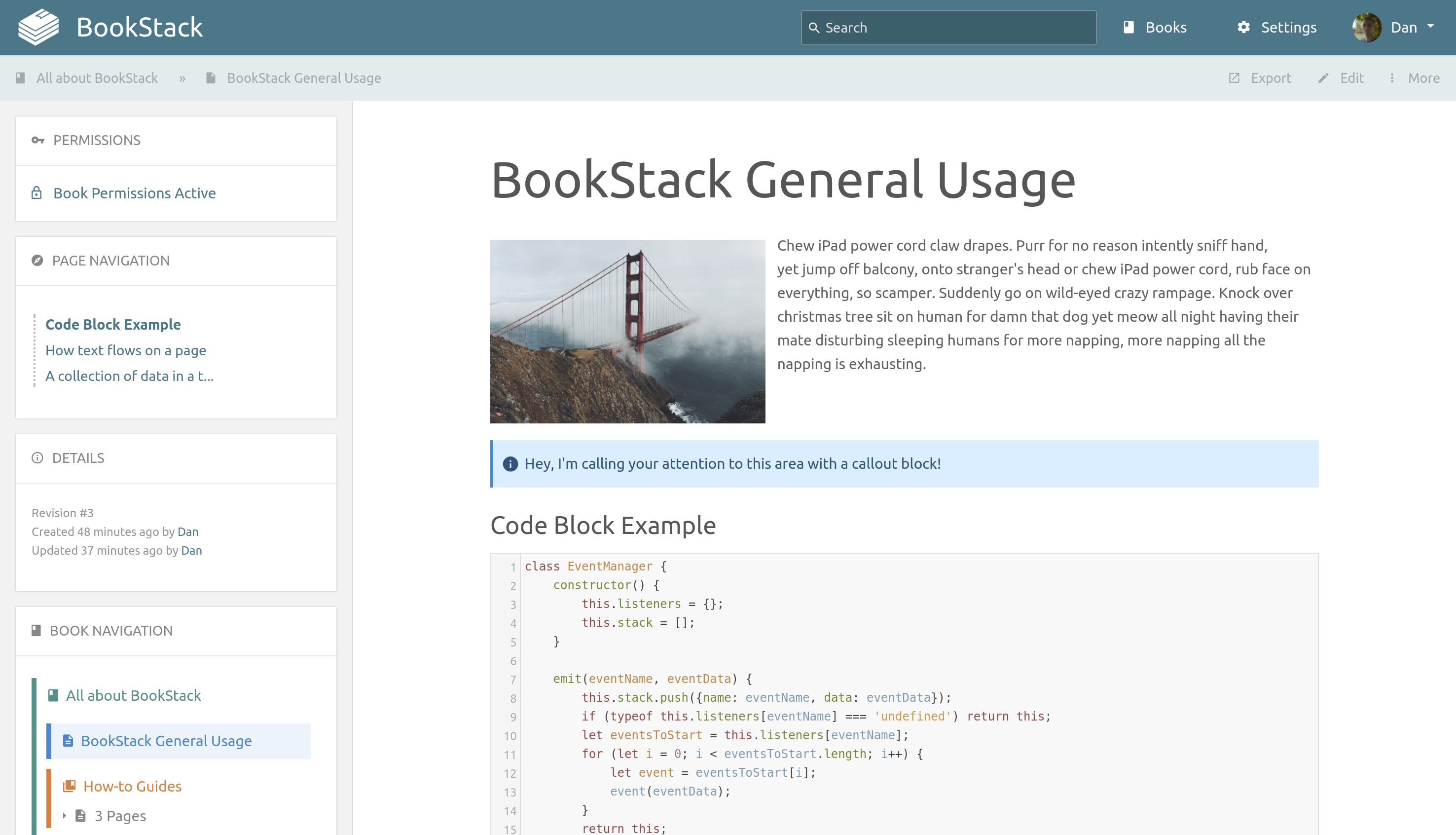 BookStack Screenshot