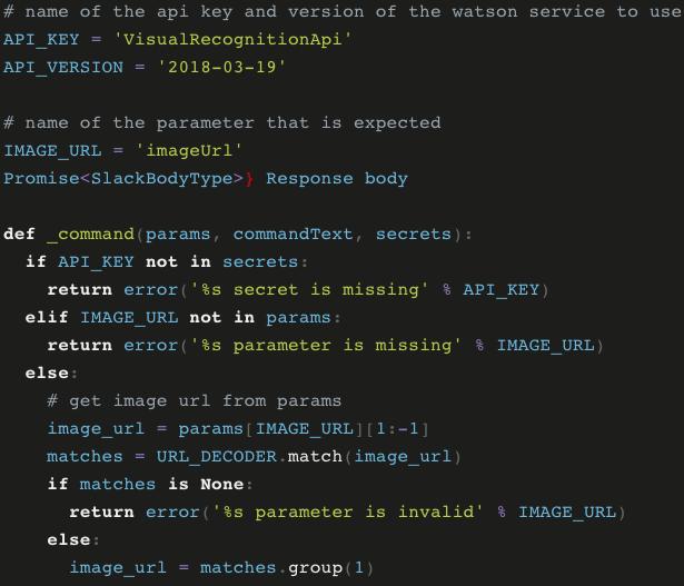 serverless Slack app code
