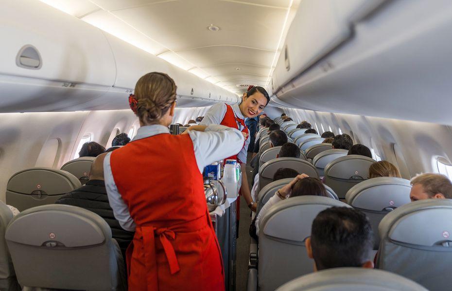 Aircraft cabin scene