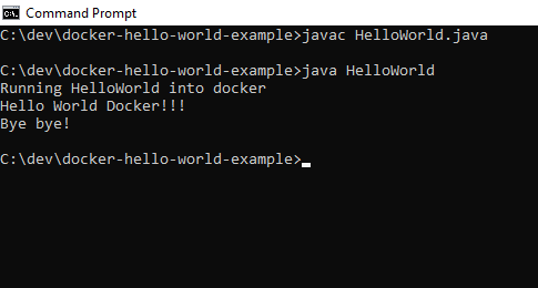 Ejecutar HelloWorld Java