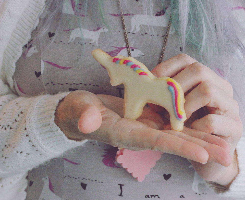 vegan unicorn cookie