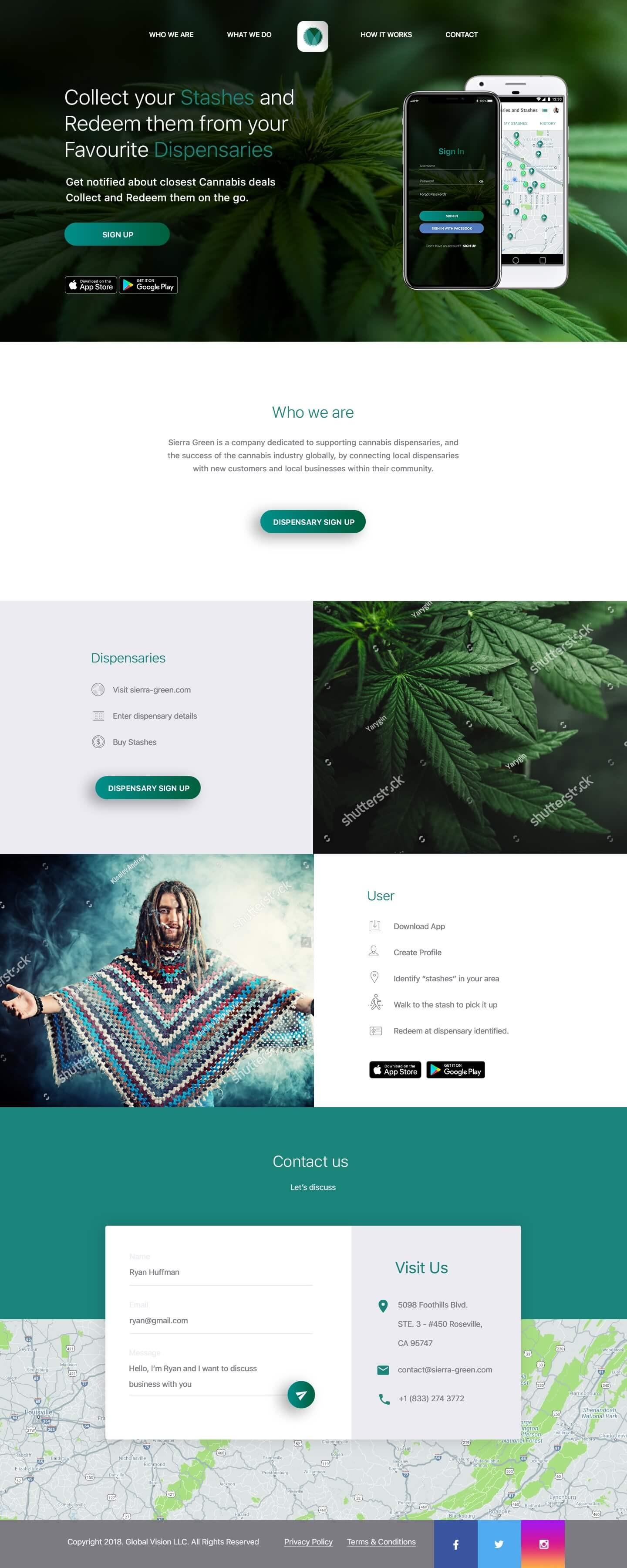 sierra-green website