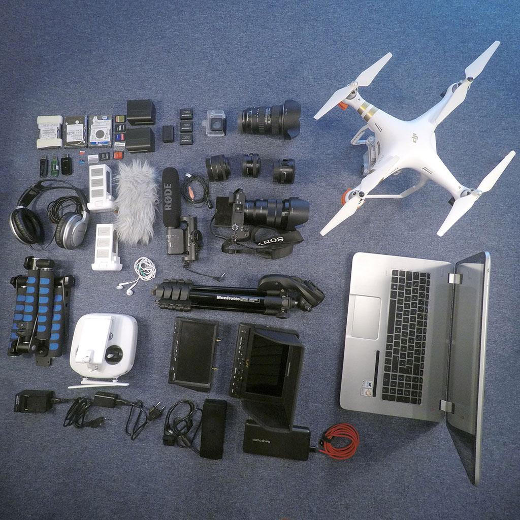 Gear: DJI Phantom 3 Professional, Sony A6300, Rode VideoMic, GoPro, Sony 18-105, Tokina 11-16, Manfrotto