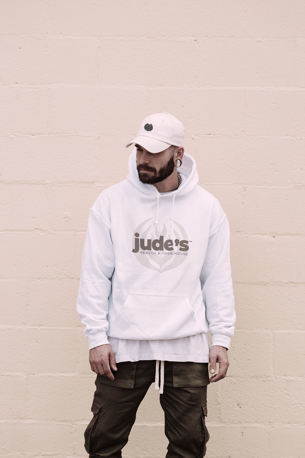 A comfy hoodie featuring the Jude's logo