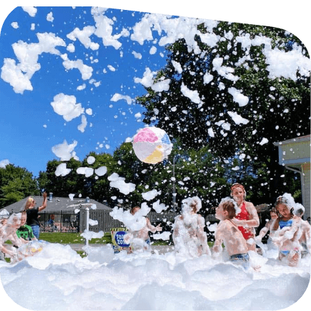 Foam and bubble party.