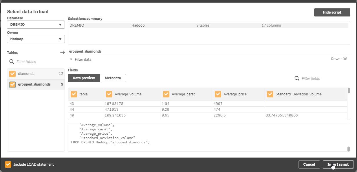 uploaddatainqlik with Hadoop and Qlik