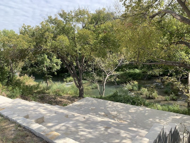 Great views of the concho river looking down the steps