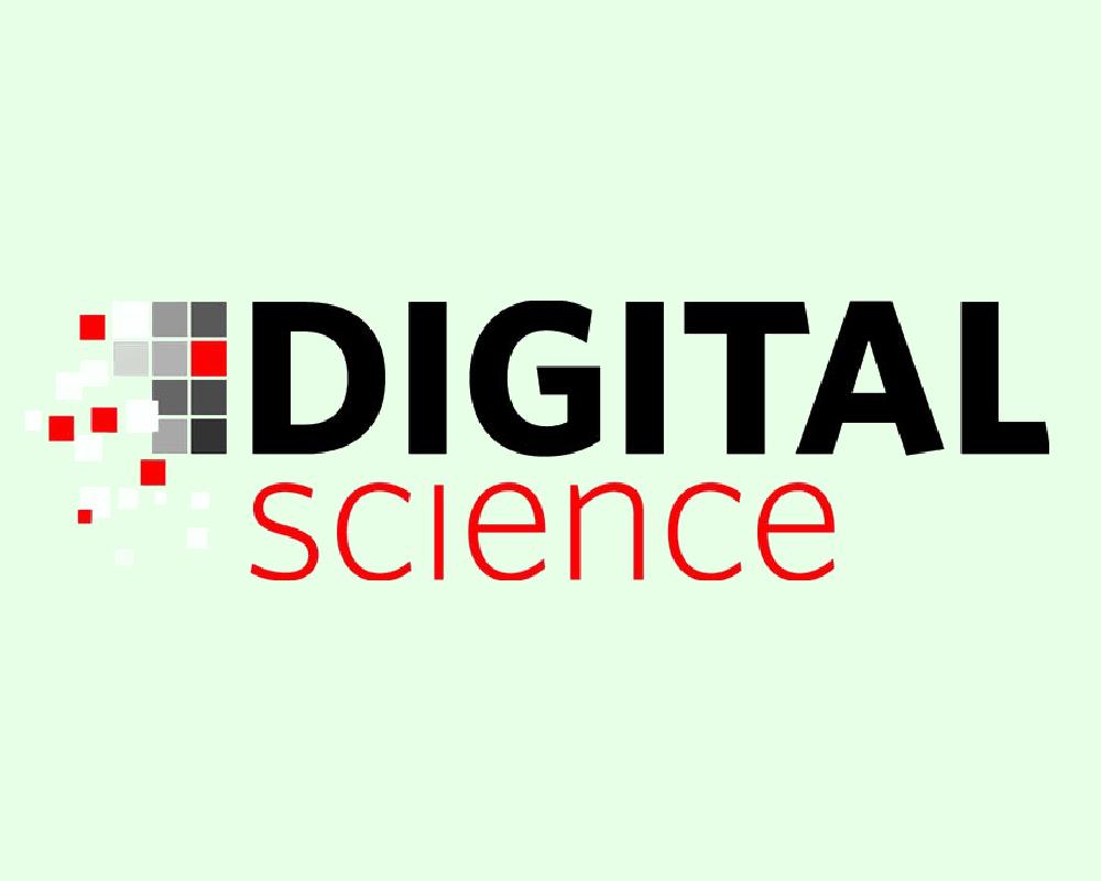 Digital Science's logo on a light green background