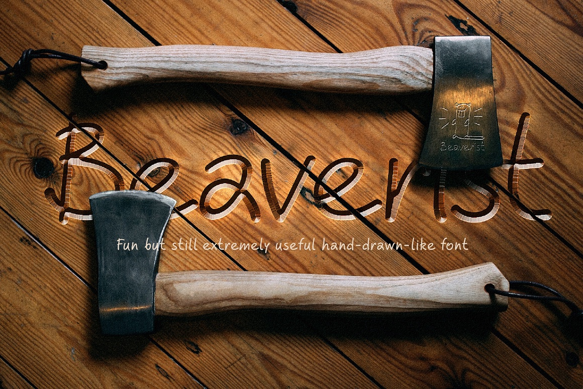Hand drawn script font. Beaverist images/beaverist_cute_font_1.jpg