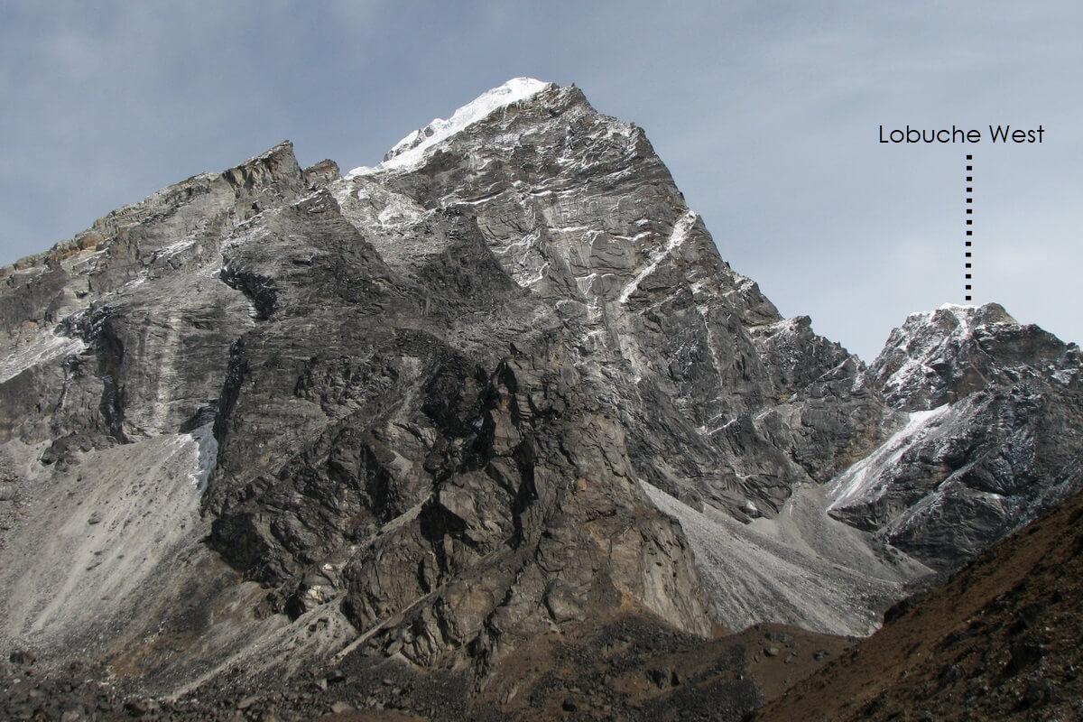 Lobuche West Peak marked