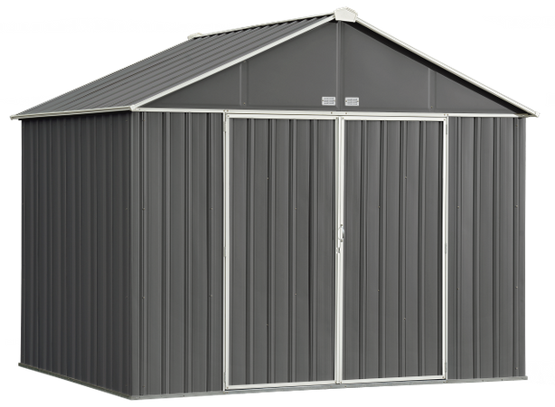 10x8 EZEE Shed in Charcoal with Cream Trim