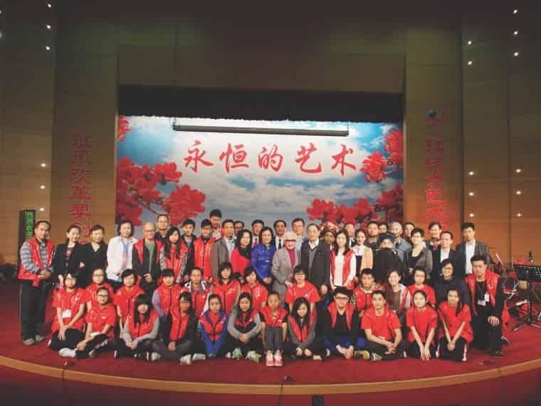 2013年八和粵劇學院青少年粵劇演員班學員,一行50人到廣州佛山廣東粵劇學院進行交流學習