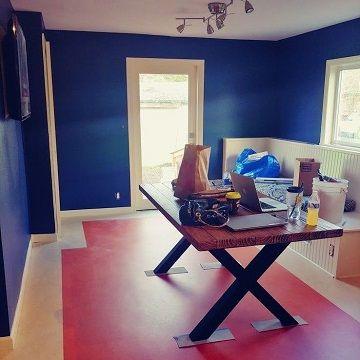 blue room finished