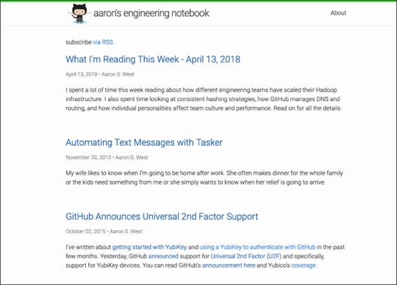 Notebook website