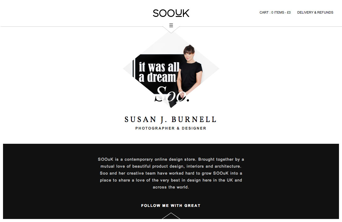 SooUK about page, describing the work of Susan J. Burnell.