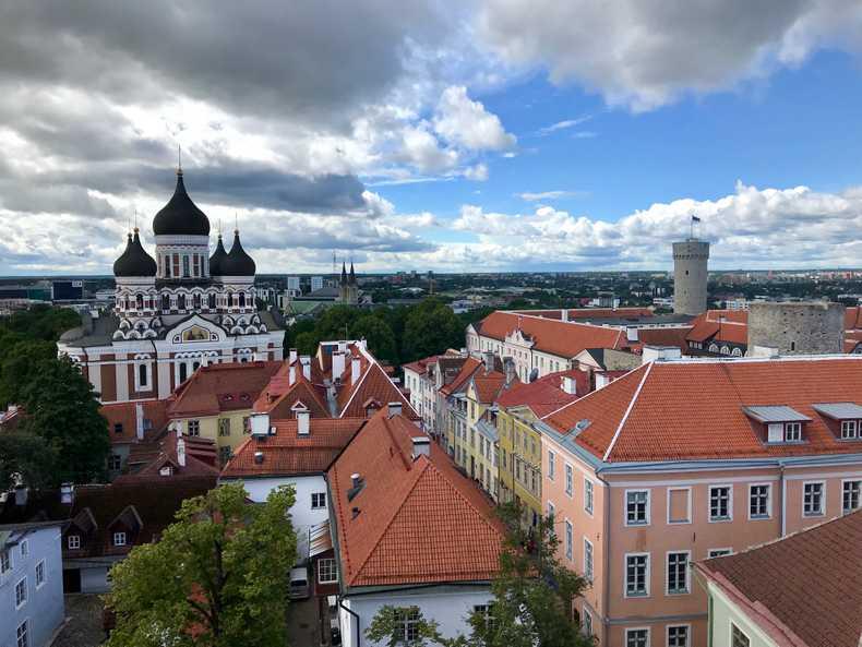 View of Tallinn froma church tower