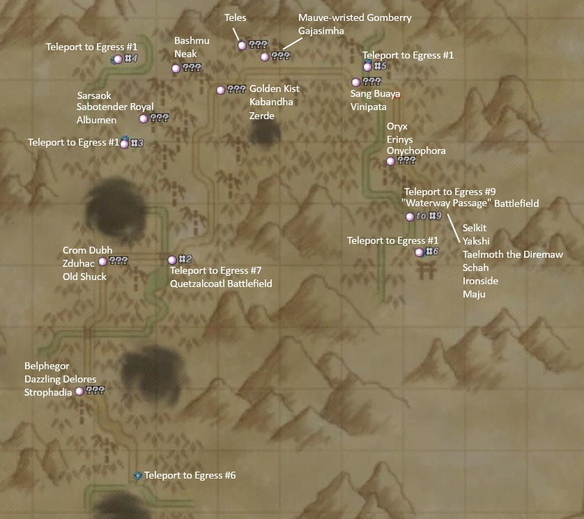 Reisenjima Spawn Map