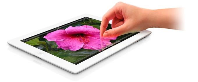 Promo pic of the new iPad