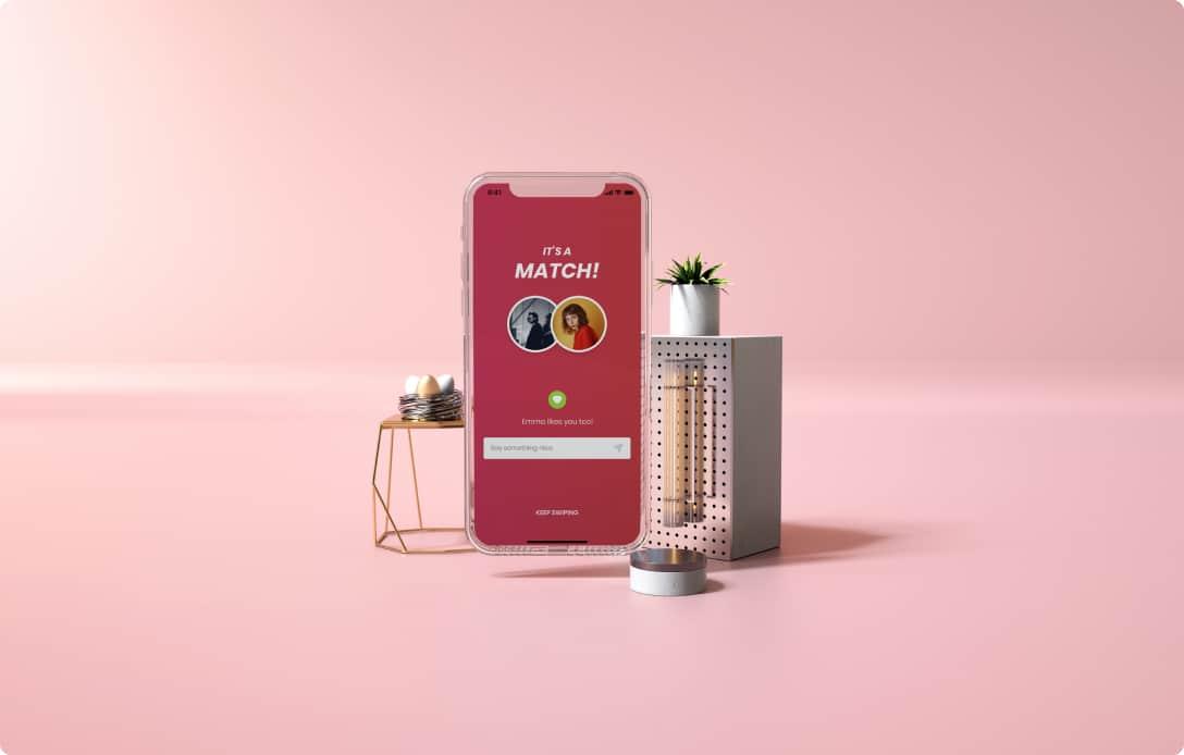 Mockup of Kaysiao mobile app