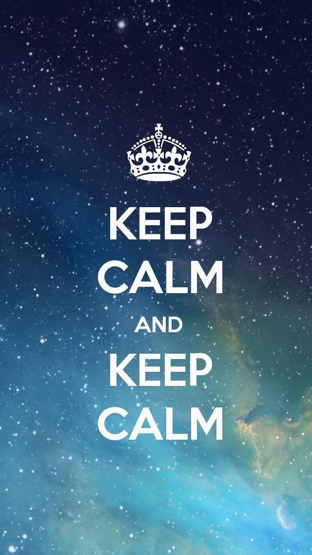 Calma, mantenha a calma