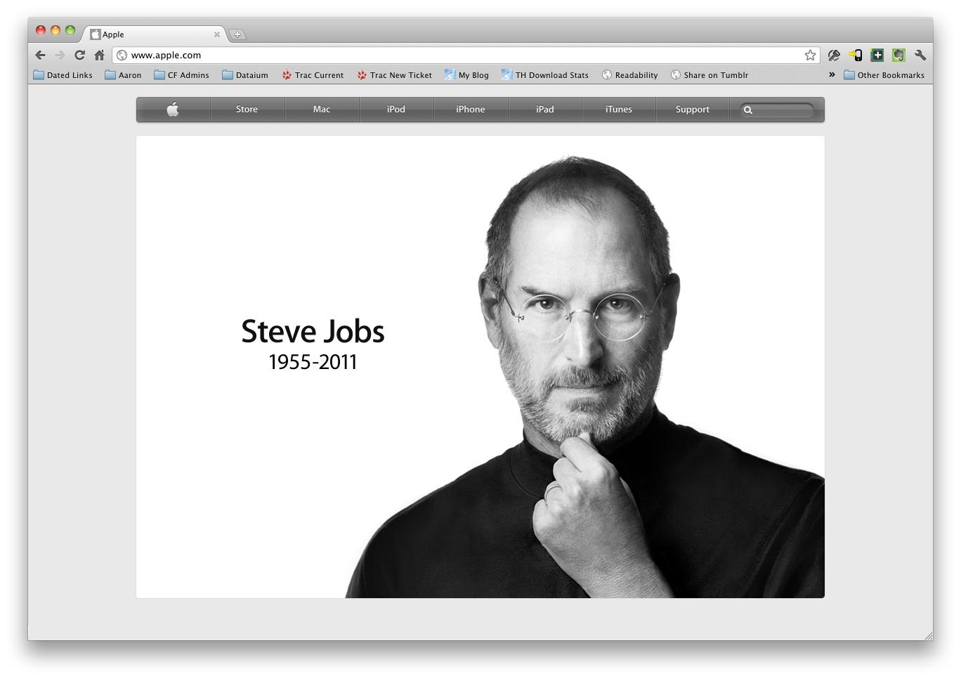 Apple tribute to Steve Jobs