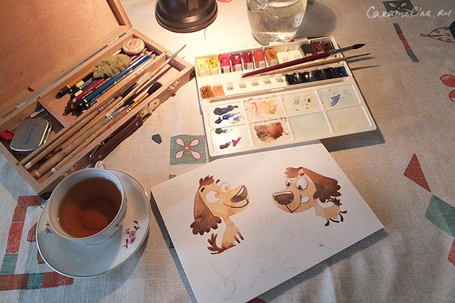 Акварельные собаки