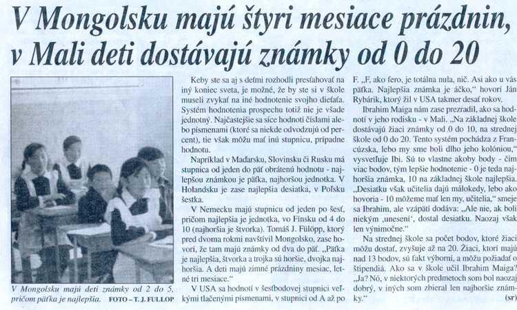 Soňa Rebrová, SME, 29. jún 2004