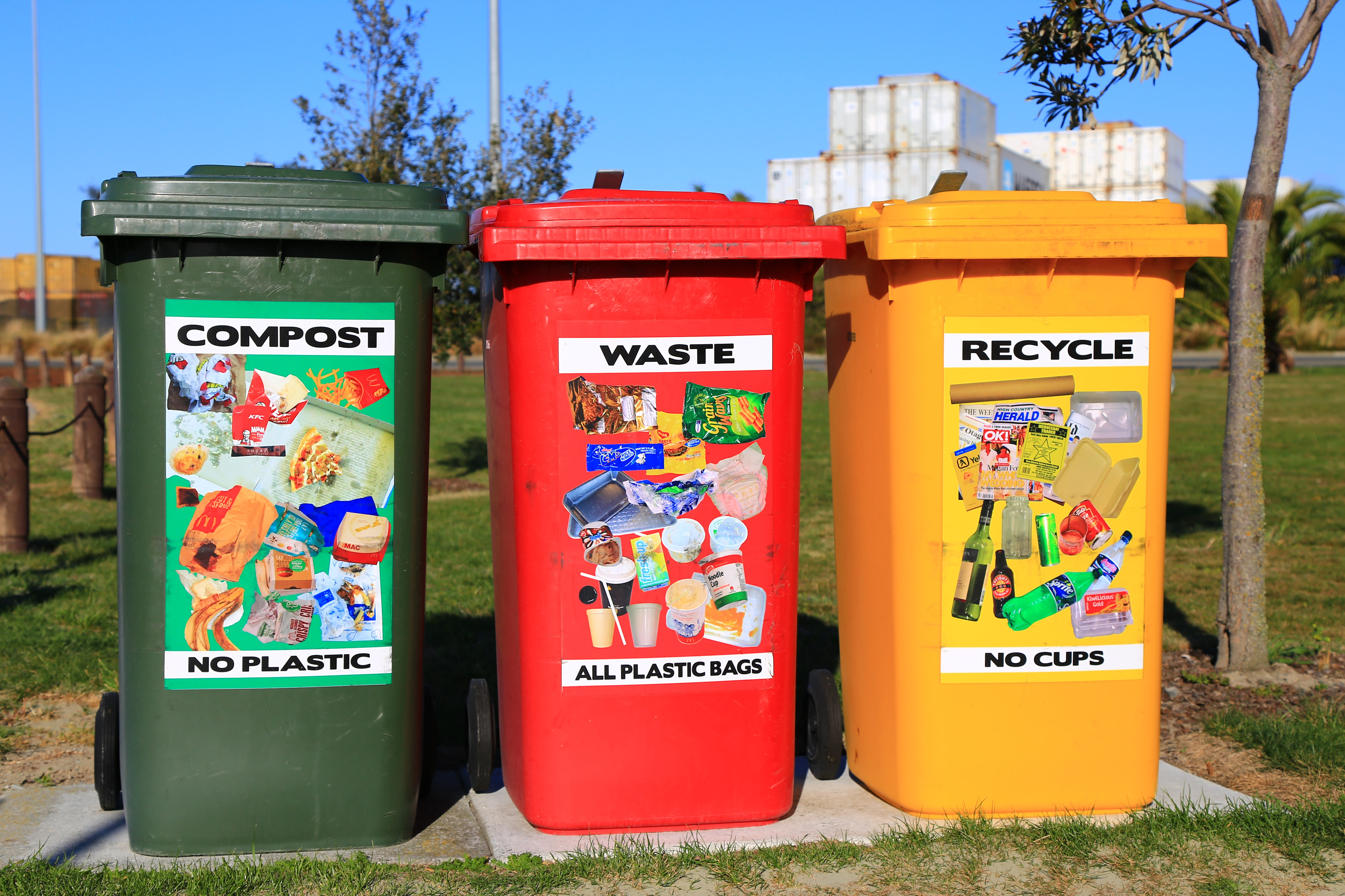 Recycling Garbage Cans