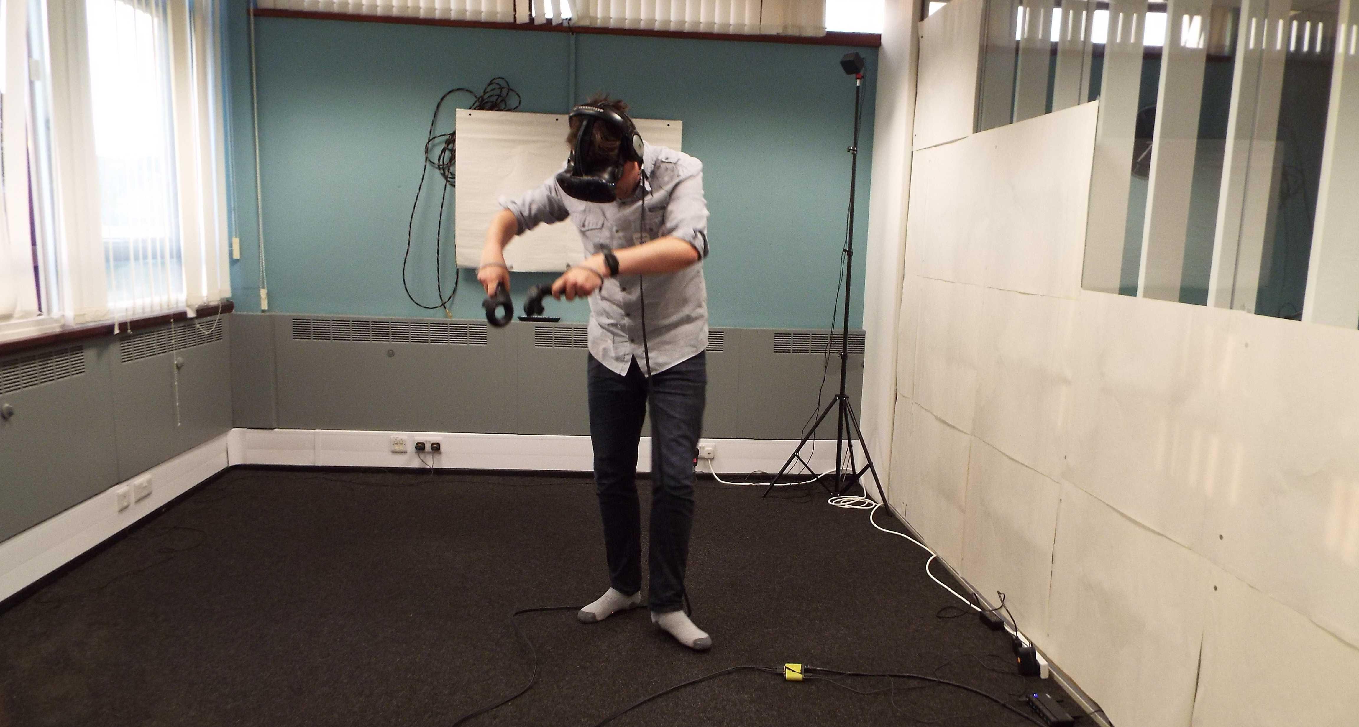 Chris Hunt deep in VR