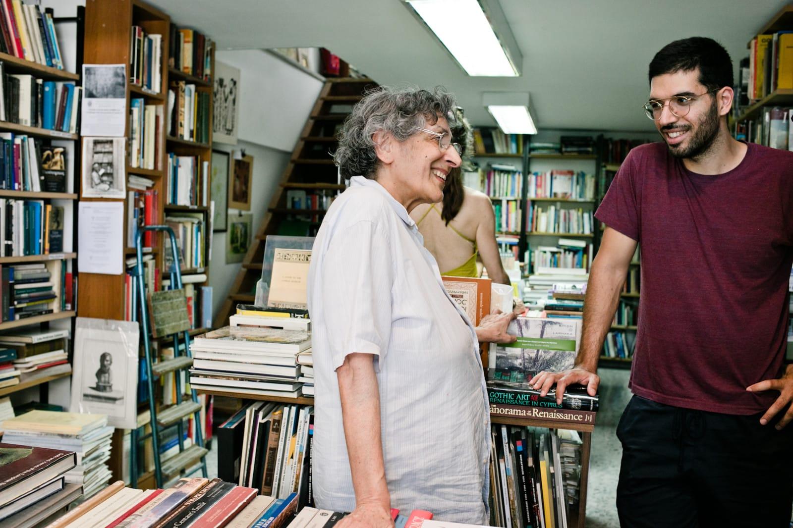 Рут Кешишьян, основательница книжного магазина Moufflon Bookshop в Никосии, Кипр. Источник: freundevonfreunden.com