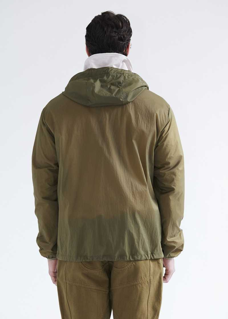 Efe sheer windbreaker with bonded seams. GmbH SS20 collection.