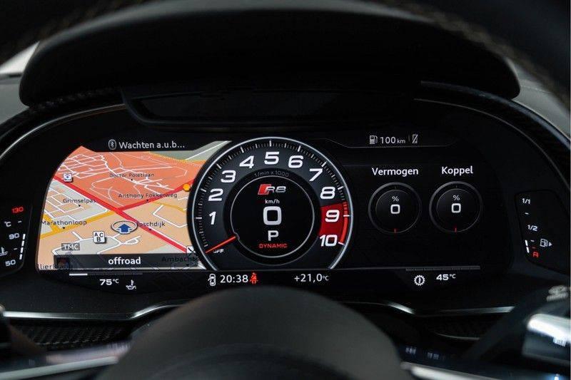"Audi R8 Exclusive 5.2 FSI V10 Plus 610pk Quattro Volleder+Memory Carbon-Int+Ext MagneticRide VirtualCockpit B&O Keramisch Keyless Navi/MMI 20"" Camera Pdc afbeelding 24"