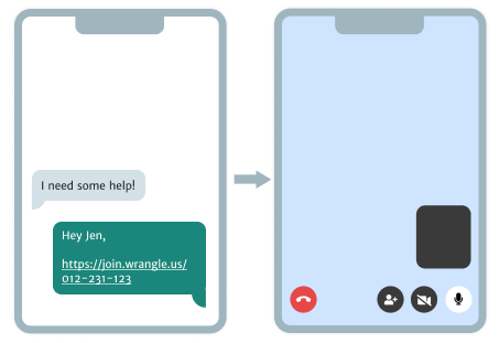 Easily start a video call with one-click.