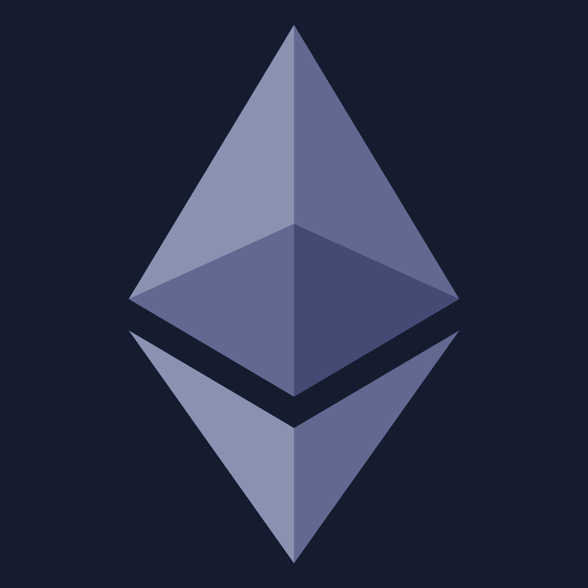 Ethereum icon purple