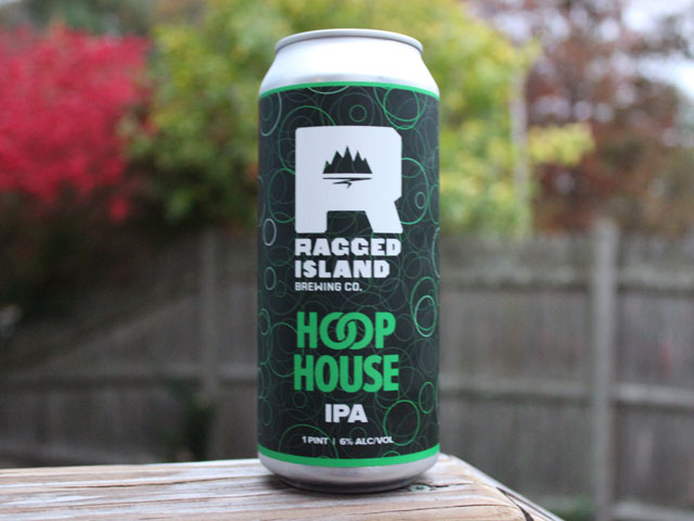 Hoop House, an IPA brewed by Ragged Island Brewing Company