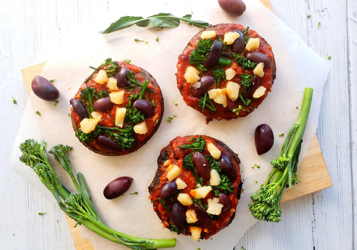 Portobello Mushroom Pizzas