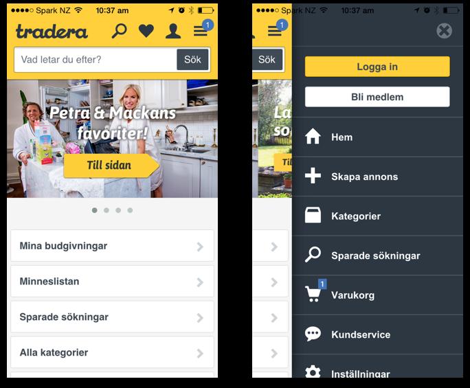 Original Tradera Mobile App