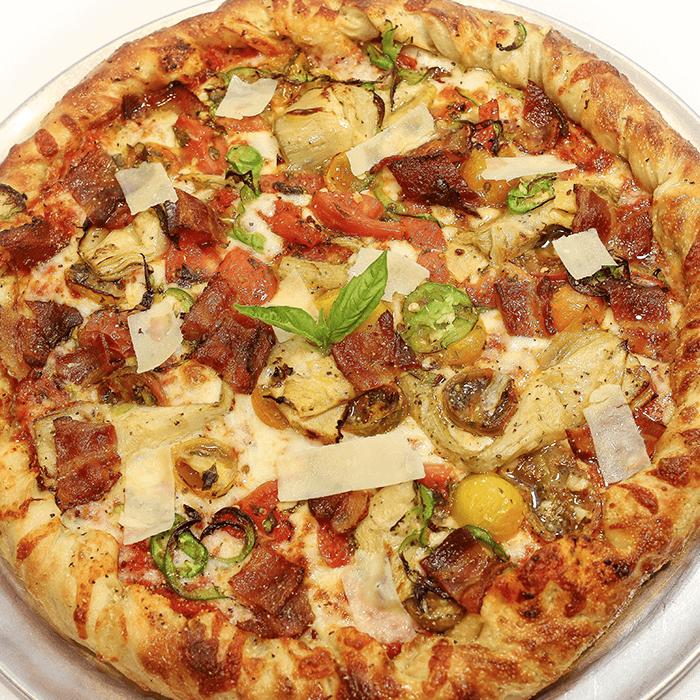 Bacon Artichoke Pizza