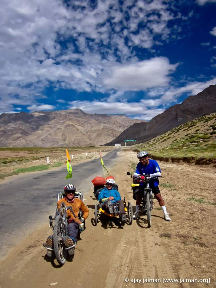 A regular recumbent cycle, a hand propelled recumbent cycle (uses hands, instead of your legs to pedal) and a regular MTB!