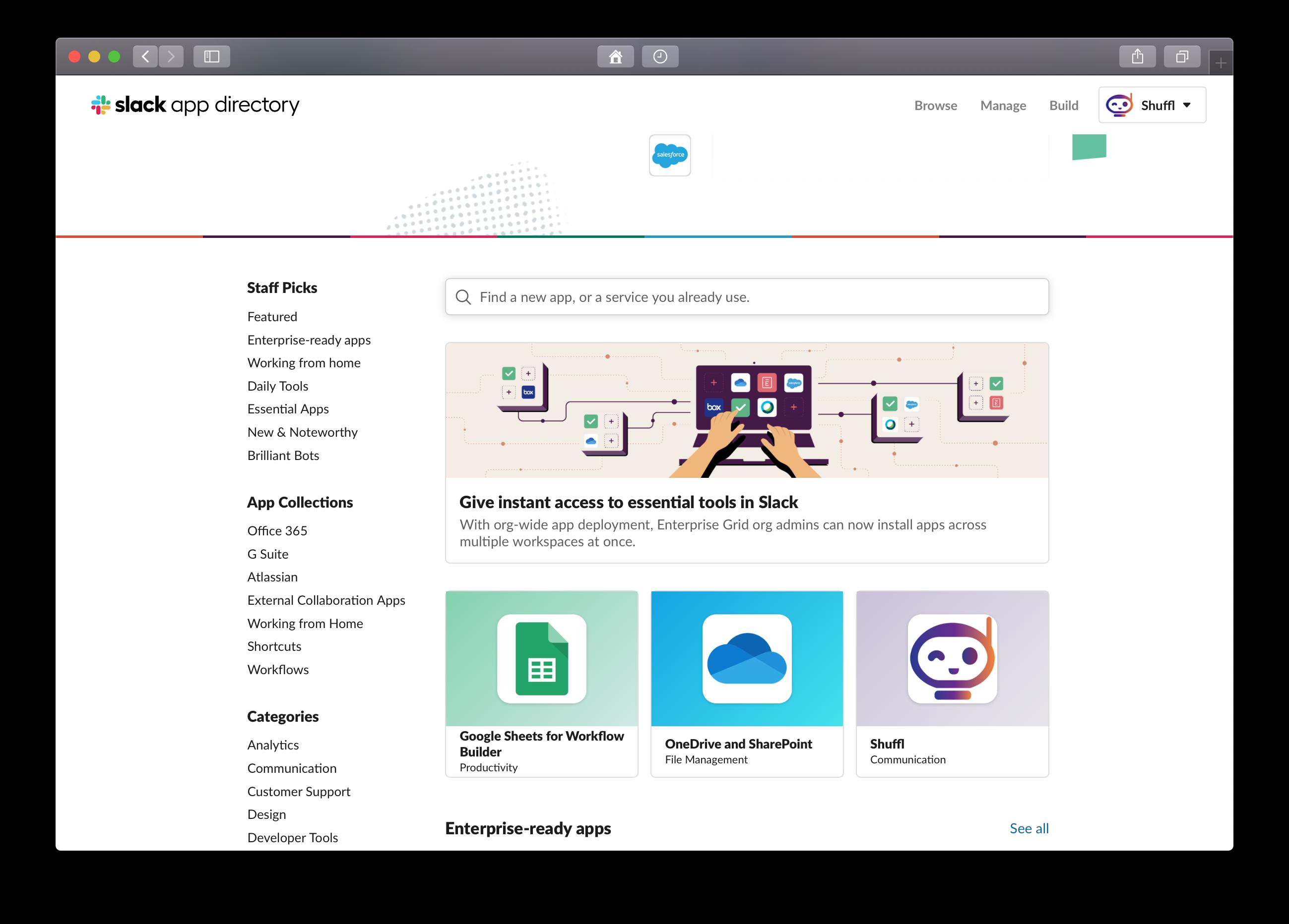 Slack App Directory, Jan 2021