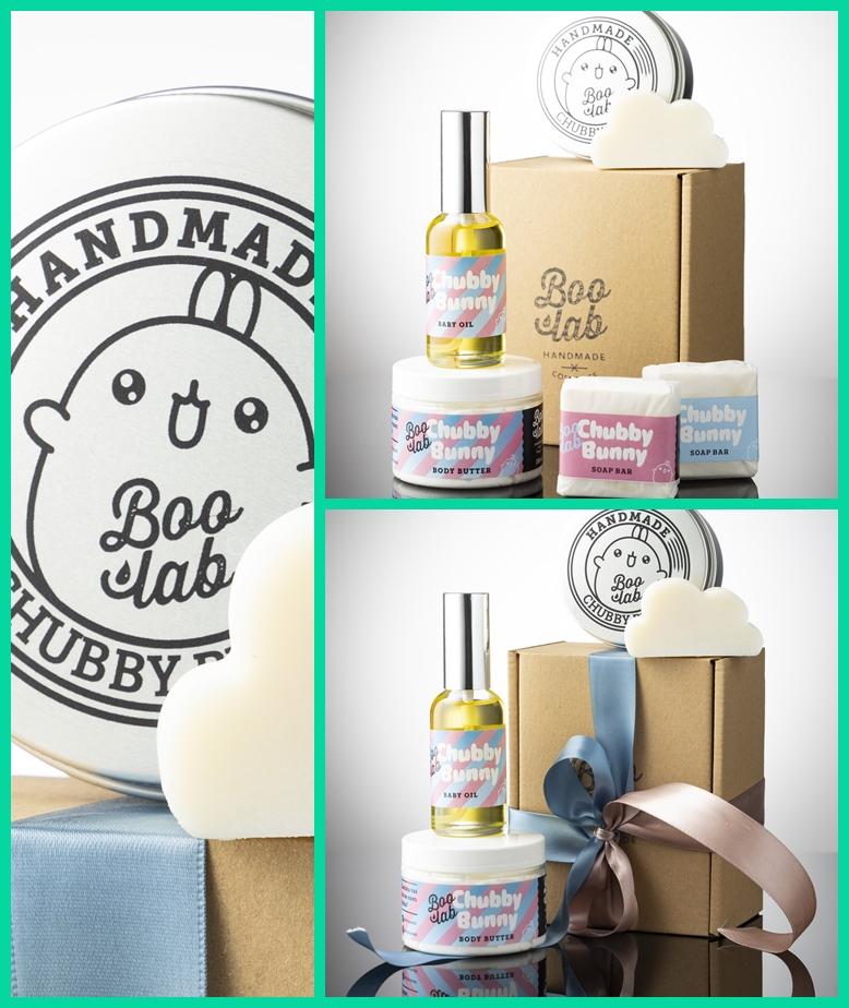 Boolab Chubby Bunny setovi kozmetike za djecu u originalnoj ambalaži.