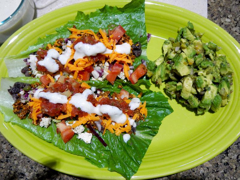 Vegan Burrito Serving